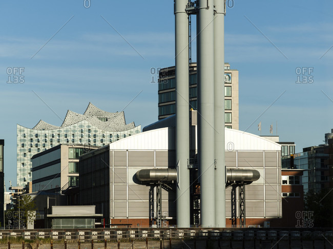 May 1, 2017: Hafencity heating plant in hamburg