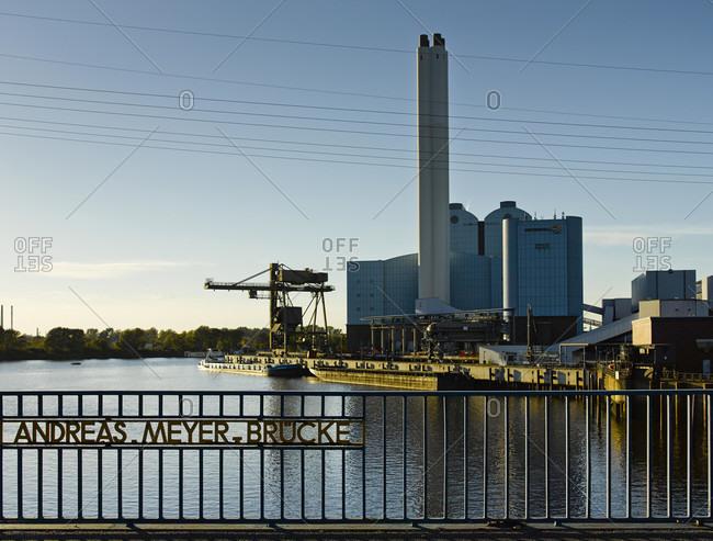 October 13, 2018: Vattenfall thermal power station tiefstack in hamburg, germany, europe