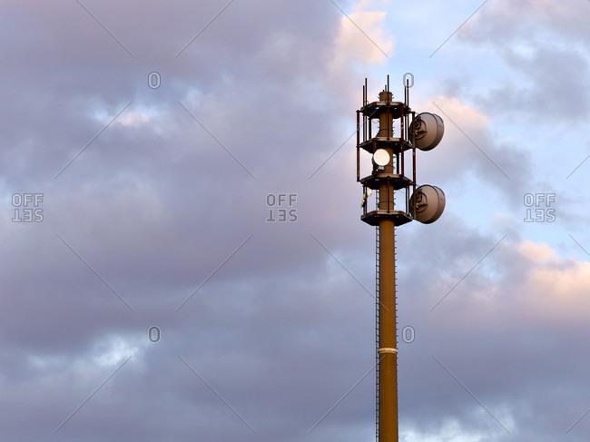 Radio mast in hamburg-billwerder. Detailed shot.