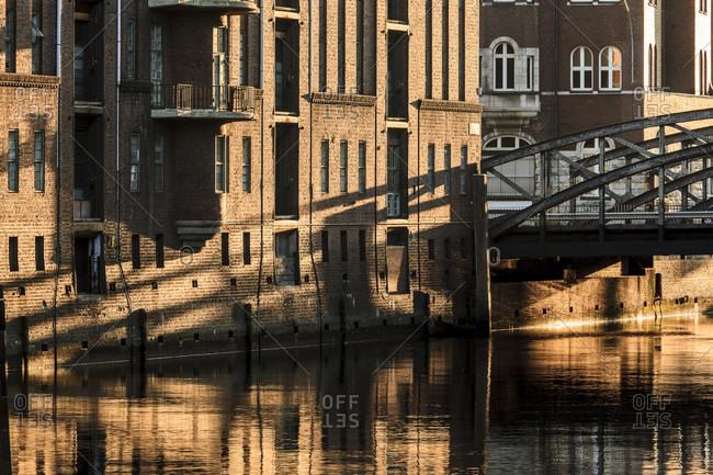 Hamburg warehouse district, shadow play.