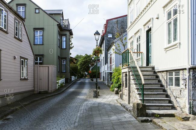 Street view in reykjavik, iceland