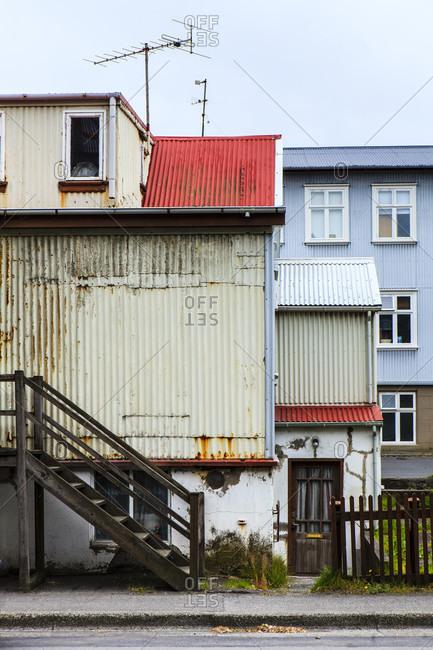 Houses in reykjavik, iceland. Wiode shot.