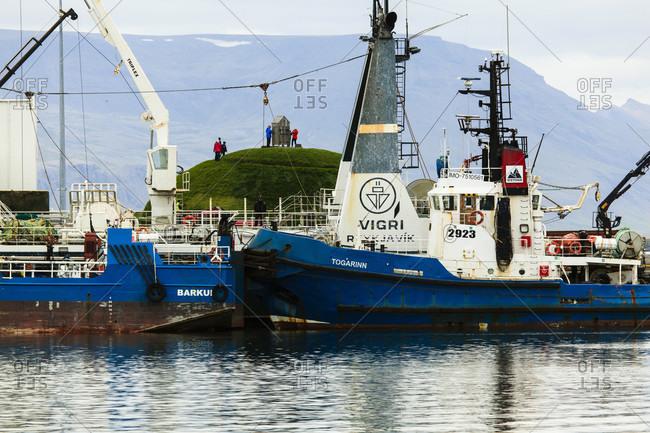 July 8, 2019: Reykjavik harbor, iceland