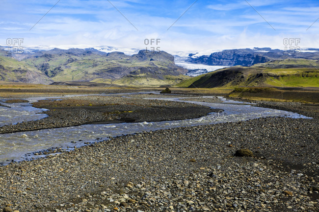 Landscape in the south of iceland,