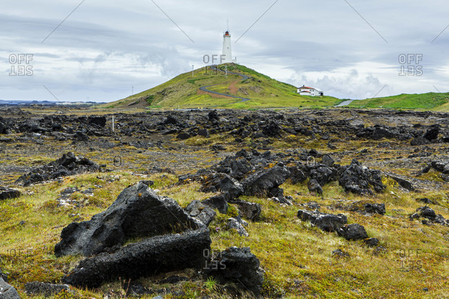 Reykjanes lighthouse in west iceland