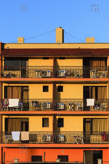 August 26, 2019: Hotel in obzor, bulgaria