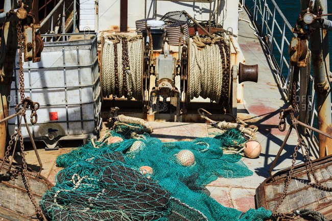 Fishing trawler in byala bay, buigaria