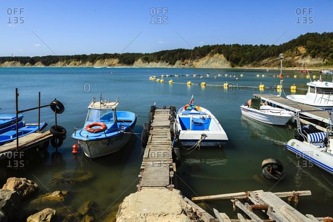 August 31, 2019: Byala harbor, black sea coast, bulgaria