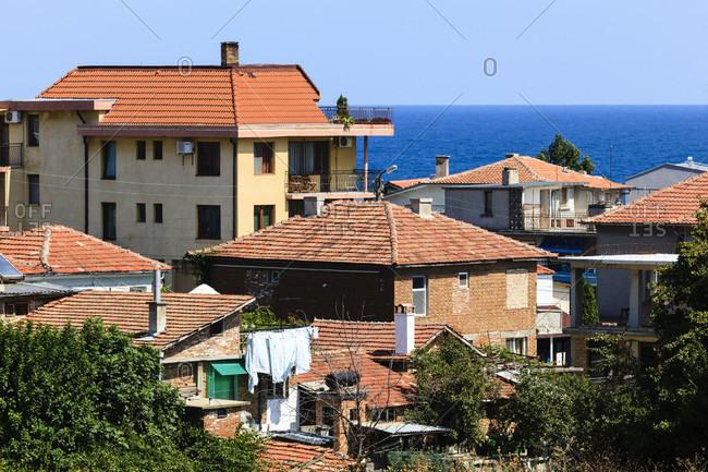 Houses on the black sea coast in bulgaria