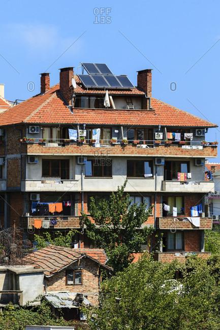 September 1, 2019: Houses on the black sea coast in bulgaria