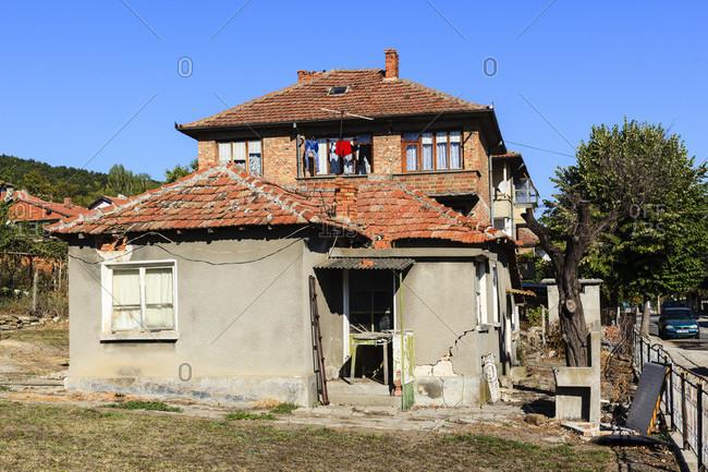 September 2, 2019: Old houses in obzor, bulgaria.