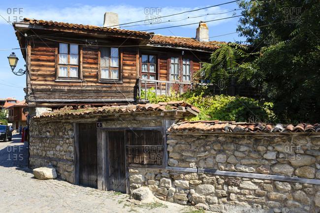 Historical houses in nessebar, bulgaria