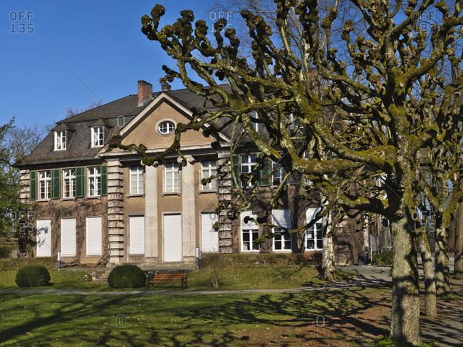 Europe, germany, hesse, nassau-dillenburg, orange city dillenburg, deutsche fachwerkstrasse, villa grün (orange-nassau museum) on the schloßberg