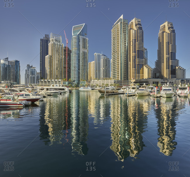 January 17, 2020: Skyscrapers at the dubai marina, dubai, united arab emirates