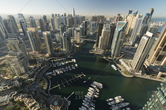 January 18, 2020: View over the dubai marina, dubai, united arab emirates