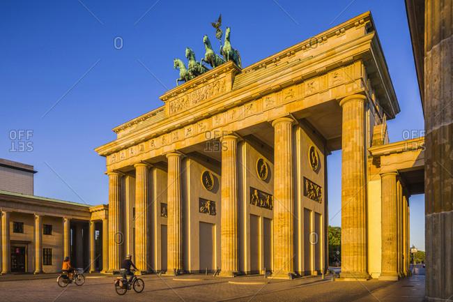 Germany - August 22, 2018: Brandenburg Gate, Gate at Pariser Platz