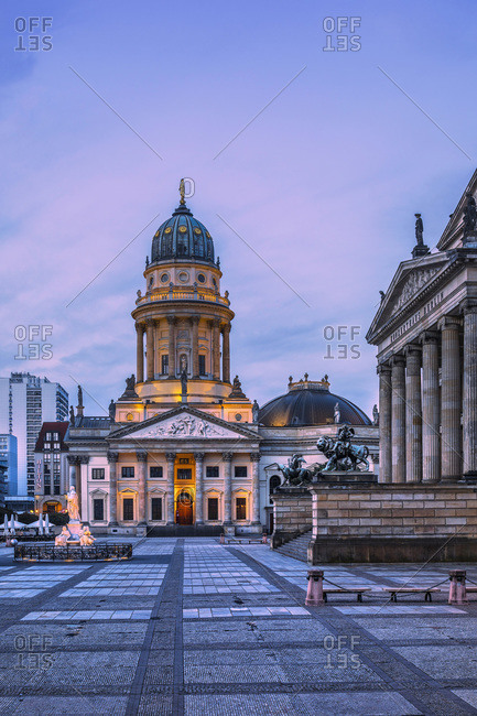 Germany - August 26, 2018: Concert Hall (Konzerthaus) and German Cathedral