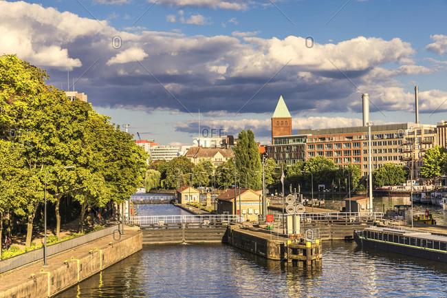 Berlin, Germany - August 26, 2018:Historischer Hafen area