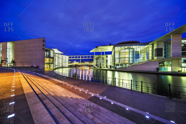 Germany - August 28, 2018: August 28, 2018: Spree river with Paul-Lobe-Haus building