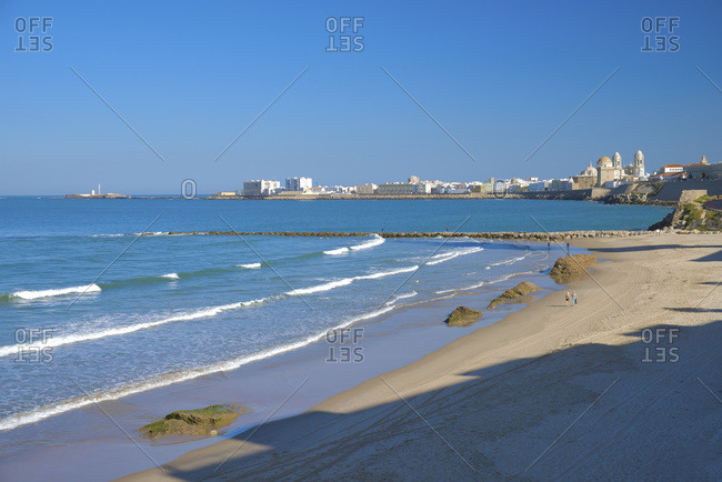 Playa Santa Maria del Mar (beach) with the town in background