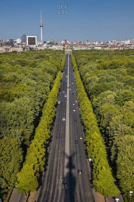 Tiergarten Park in the center of Berlin