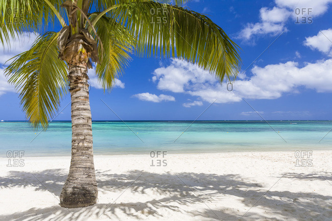 White beach of Trou Aux Biches in the north of the island of Mauritius