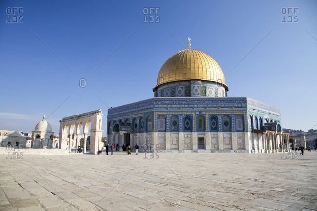 The Dome of the Rock in Jerusalem Temple Mount