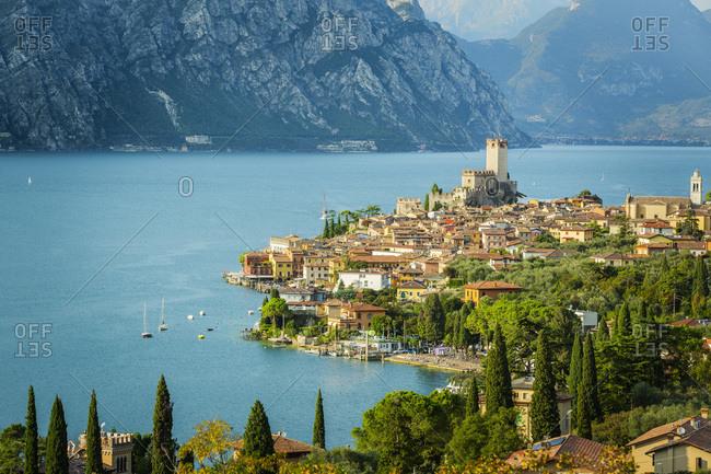 View towards Malcesine and Lake Garda