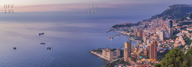 Panoramic view of the city, Monaco