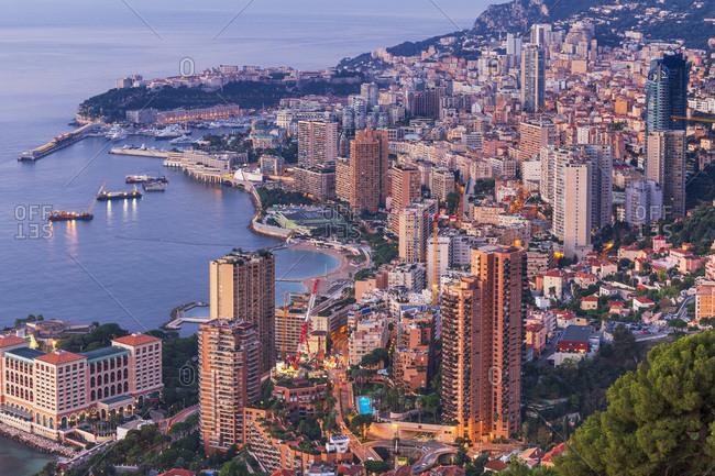 Monaco - November 15, 2018: Panoramic view of the city