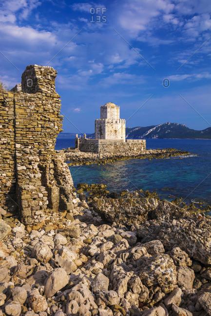 Bourtzi of Methoni fortress in Greece