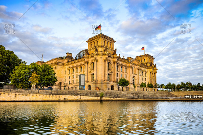 Reichstag Parliament Building on Spree River