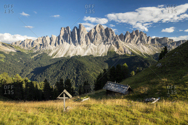 The Odle range in Val di Funes