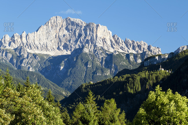 Laste village and Civetta mountain