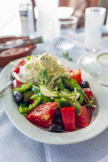 Vathi, the traditional Greek salad