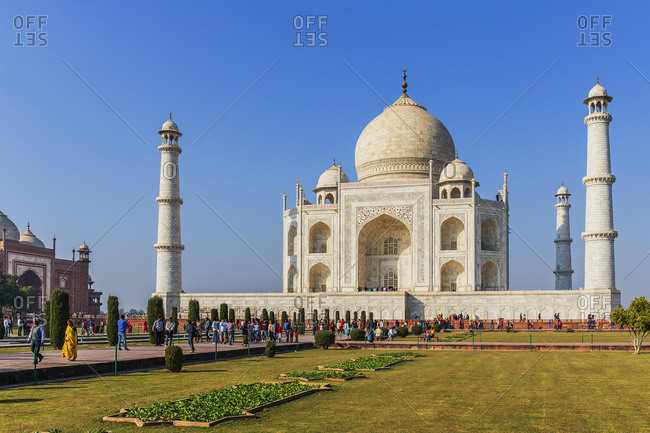 India - January 20, 2019: Cenotaph of Shah Jahan, Taj Mahal