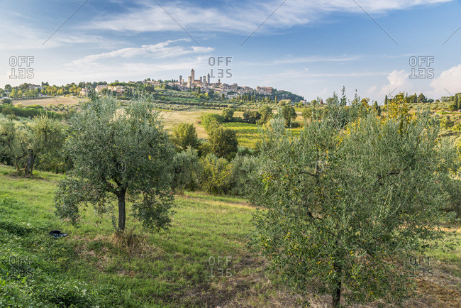 View of San Gimignano in Italy