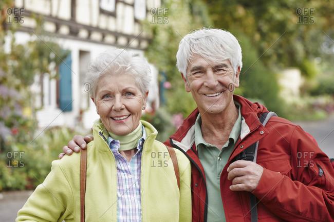 Germany- Ruedesheim- Germany- Ruedesheim- portrait of happy senior couple