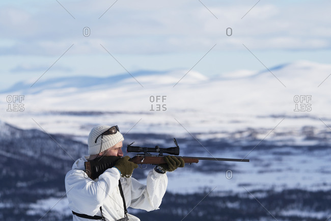 Man aiming rifle - Offset Collection