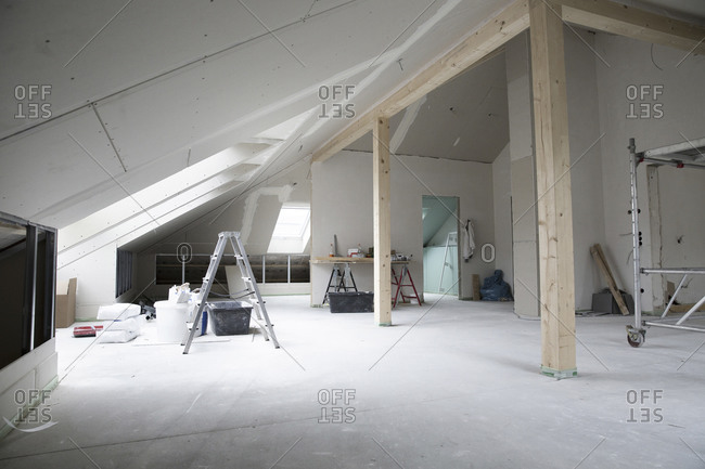 Interior of renovating house