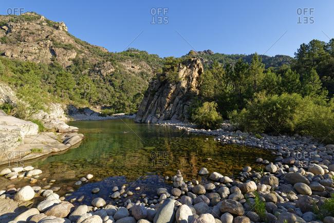Solenzara River in the summer