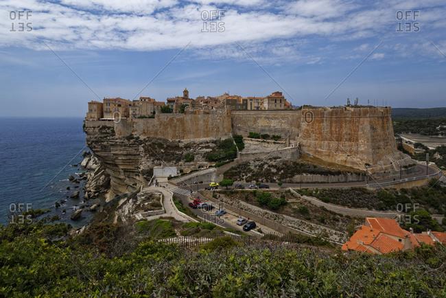 France- Corse-du-Sud- Bonifacio- Citadel of clifftop town