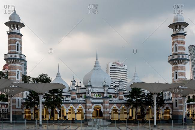 March 17, 2018: Facade of Masjid Jamek mosque in Kuala Lumpur, Malaysia