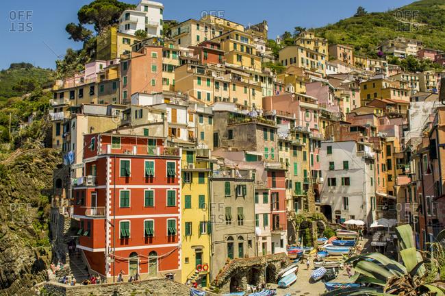 Riomaggiore, Cinque Terre, UNESCO World Heritage Site, Liguria, Italy, Europe