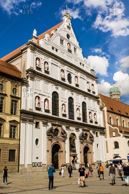 July 5, 2016: Building architecture, Munich, Bavaria, Germany, Europe