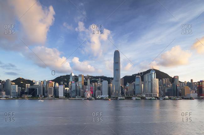 June 28, 2020: Skyline of Hong Kong Island, Hong Kong, China, Asia