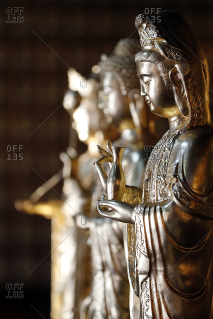 November 20, 2019: Khai Doan King Honored Pagoda, Quan Am (Guan Yin), the Bodhisattva of Compassion (Goddess of Mercy), Buon Me Thuot, Vietnam, Indochina, Southeast Asia, Asia