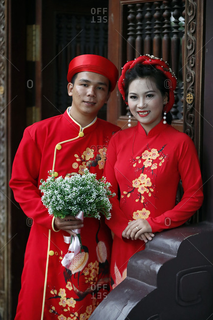 December 1, 2019: Traditional wedding at Thien Ung Buddhist temple, Quy Nhon, Vietnam, Indochina, Southeast Asia, Asia