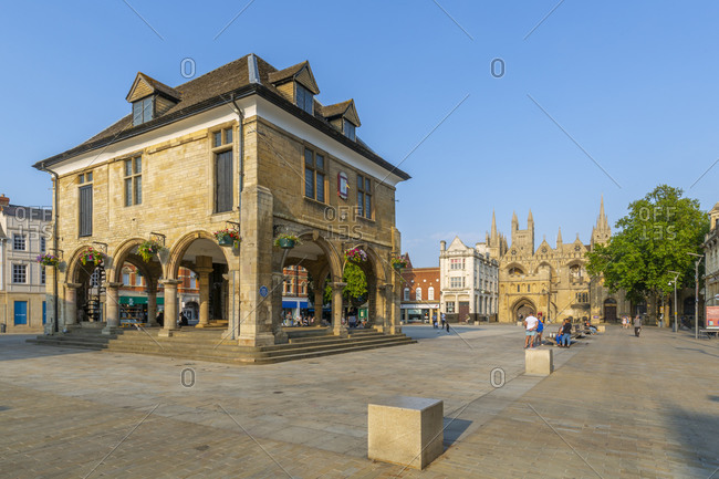 August 9, 2020: View of Guild Hall in the Town Square, Peterborough, Northampton shire, England, United Kingdom, Europe