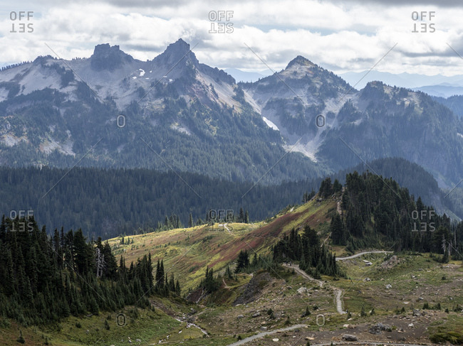 Views from the Skyline Trail of Mount Rainier National Park, Washington State, United States of America, North America
